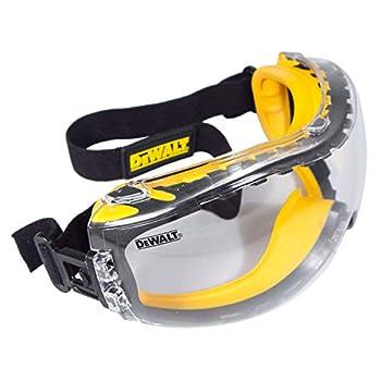DEWALT DPG82-11C Concealer Clear Anti-Fog Dual Mold Safety Goggle Clear Lens 1 Pair