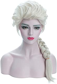 Karlery Adult Women's Long Beige Braided Fashion Wig Halloween Cosplay Wig Costume Party Wig(Beige)