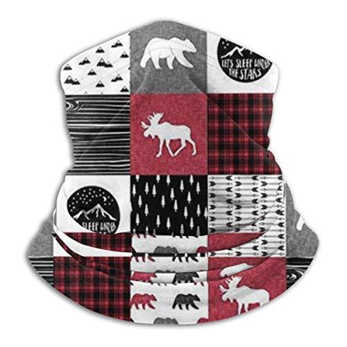 Archiba Happy Camper Bear et Moose Neck Ganter Neck Maskr - Foulard pour Le Visage