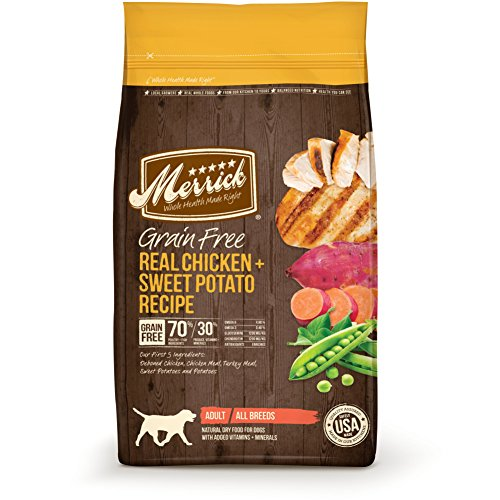 Merrick Grain Free Dry Dog Food Recipes, Chicken, 4 Pound