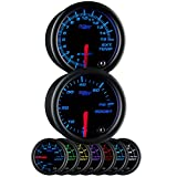Glowshift Black 7 Color 52mm Universal Gauge Diesel Combo Kit 60 PSI Boost & Pyrometer EGT