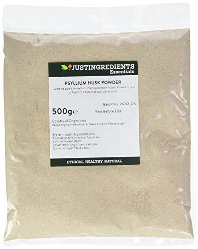 JustIngredients Essential Poudre de glume de psyllium (Psyllium Husk Powder) 500g