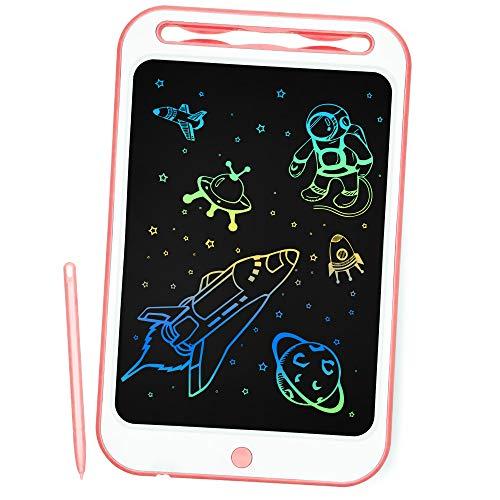 Richgv Tableta de Escritura, 10 Pulgadas Tablet de Pintar Niños,Electrónica Gráfica Portatil Tableta de Dibujo Digital Color, Escribir Dibujar Notas para Clase Oficina Casa (10 Pulgadas, Rosa-B)