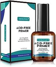 No Burn Acid Free Primer, Professional Natural Nail Bond Primer,Superior Bonding Acid Free Primer 0.5 oz For Gel Nail Polish UV Gels System Manicure Tips Functional Use