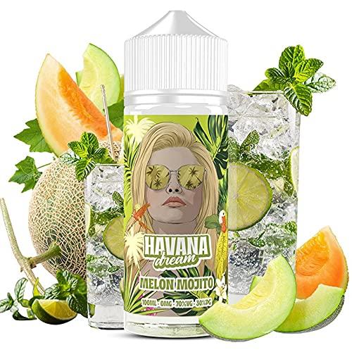 Havana Dream - Melon Mojito E-Liquid   100ML   Sin Nicotina: 0mg   70VG/30PG   E-Liquido para...