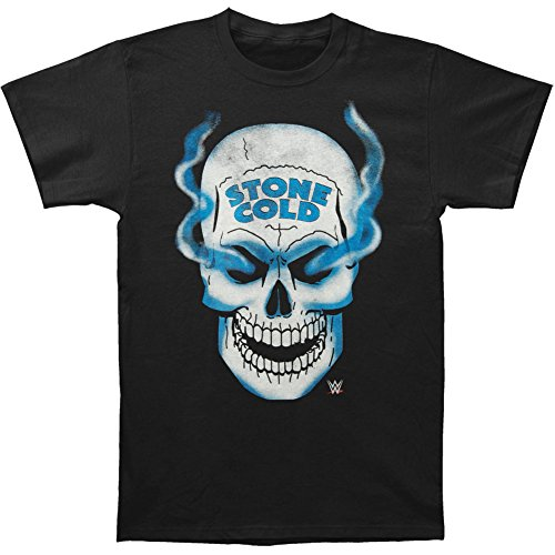 maikeerWWE Men's Stone Cold Steve Austin Skull 3 16 Inch Front&Back T-Shirt