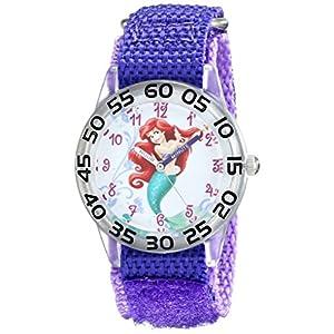 Disney Kids' W001669 Ariel Analog Display Analog Quartz Purple Watch
