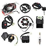 Trkimal Complete Wiring Harness kit Electrics Wire Loom Assembly with Full Copper Wire Stator CDI regulator ignition switch, ATV switch For 4-Stroke GY6 125cc 150cc Pit Bike Scooter ATV Quad Go Kart