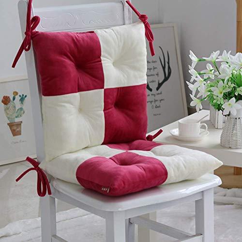 YLCJ memoryL comfort kussen voor stoel, pluche, vermindert de druk op het zitvlak, verbetert de houding van de ischiase, M, 40 x 40 x 8 cm (16 x 16 x 3)