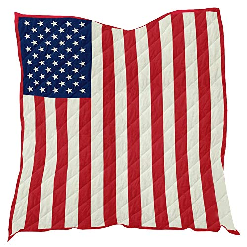 Aigend Toalla de Playa - Bandera Americana Impreso Alfombra de Tela de Picnic Alfombra de Yoga Funda de Manta Toalla de Playa 96cmx114cm para Playa