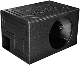 Q Power QBOMB12VL SINGLE Single 12-Inch Side Ported Speaker Box with Durable Bed Liner Spray