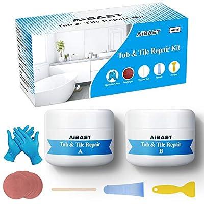 Tub, Tile and Shower Repair Kit Fiberglass Repair Kit,3.5 oz Porcelain Repair Kit,Bathtub Repair Kit White Tub and Tile Refinishing Kit?Toilet Ceramic Repair Kit