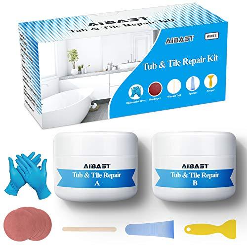 Tub, Tile and Shower Repair Kit 3.5 oz for Sink, Shower, Countertop, bathtub Crack Porcelain Refinishing Kit
