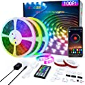 Ddbox 100FT 5050 RGB LED Music Sync Strip Lights