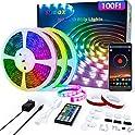 Ddbox 100FT 5050 RGB LED Music Sync Strip Lights