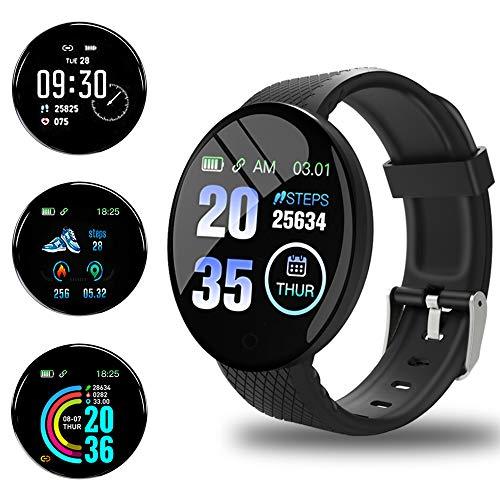 Smartwatch Orologio Fitness Uomo Donna Fitness Tracker Contapassi Calorie Cardiofrequenzimetro da polso Impermeabile IP65 Smart Watch con Cronometro Notifiche Messaggi per Android iOS
