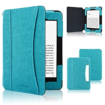 ACdream Kindle Paperwhite Case 2018 Folio Smart Cover Leather Case with Auto Sleep Wake Feature for All New and Previous Kindle Paperwhite Models Sky Blue