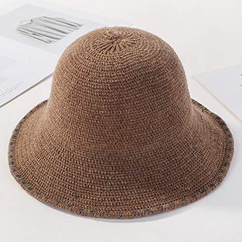 DAIDAIWLH Bucket Hat für Frauen Fisherman Cap Strickmütze Warm Casual Cap Solide...