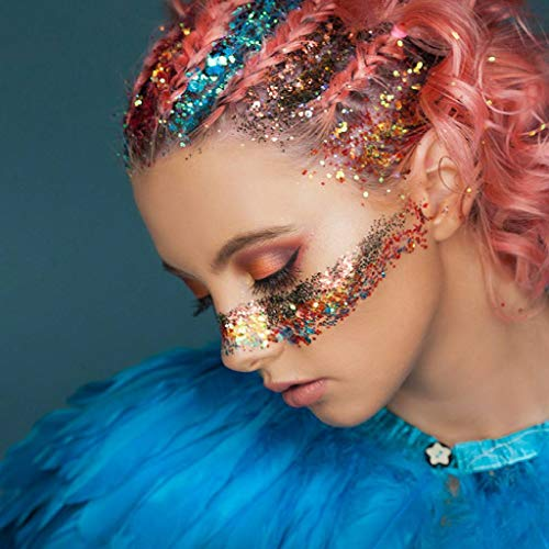 B-Creative 10 macetas para fiestas de princesas con purpurina de arco iris, cuerpo de unicornio, sirena, fiesta de Halloween, cosplay, Reino Unido