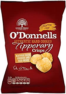 O' Donnells of Tipperary Handcooked Mature Irish Cheese and Red Onion Flavour Crisps (7 x 50g packs)