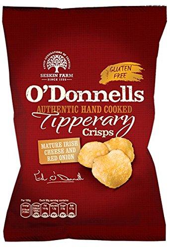 O'Donnells reifer Irischer Käse und rote Zwiebelgeschmack (2 x 125 g) aus Irland