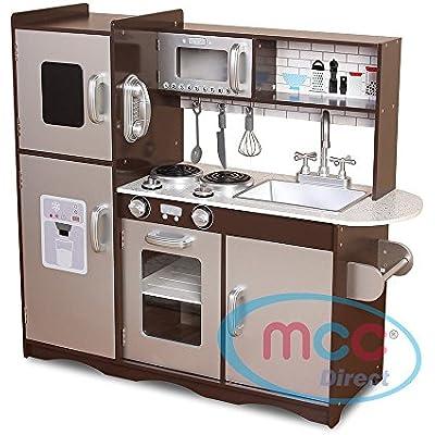 Cheap Mcc Large Kids Brown Silver Wooden Play Kitchen