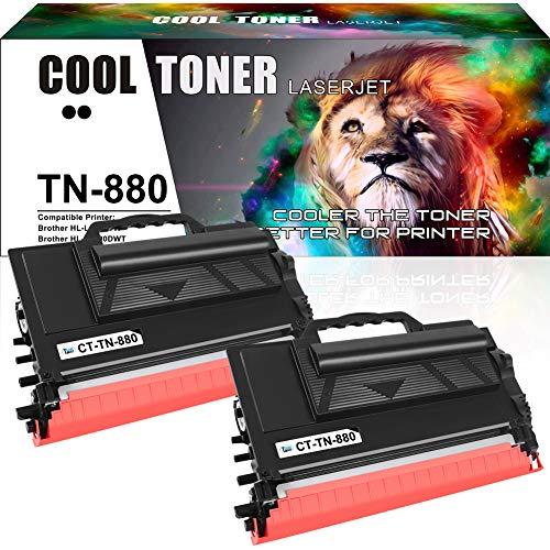 Cool Toner Compatible Toner Cartridge Replacement for Brother TN880 TN-880 TN 880 HL-L6200DW MFC-L6700DW MFC-L6900DW MFC-L6800DW HL-L6200DWT HL-L6250DW HL-L6300DW HL-L6400DW L6200DW (Black, 2-Pack)