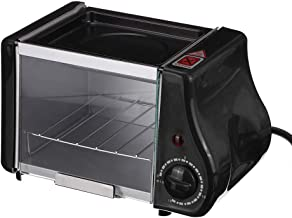 Ashey Mini Horno eléctrico multifunción, Parrilla Asada, sartén, Pastel Tostador, máquina para Hornear Pan, Huevos fritos, Tortilla para Desayuno