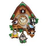 ZHANGZHIYUA Reloj De Cuco - Reloj Vintage De Madera De La Casa del Árbol De Cuco...