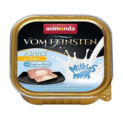 Animonda Vom Feinsten adult + Milchkern Katzenfutter, Nassfutter für ausgewachsene Katzen, 32er Pack (32 x 100 kg)