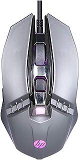 Mouse HP Gamer USB M270 Chumbo - Sensor Óptico Ambidestro Resoluções até 2400 DPI e Iluminação Multicolor - 7ZZ86AA