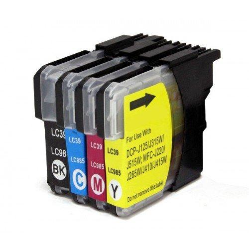 Pack 4X Cartuchos de Tinta Compatible para Brother LC-985 DCP Mfc 18ml Color T33 Envio 48/72H Felixmania®