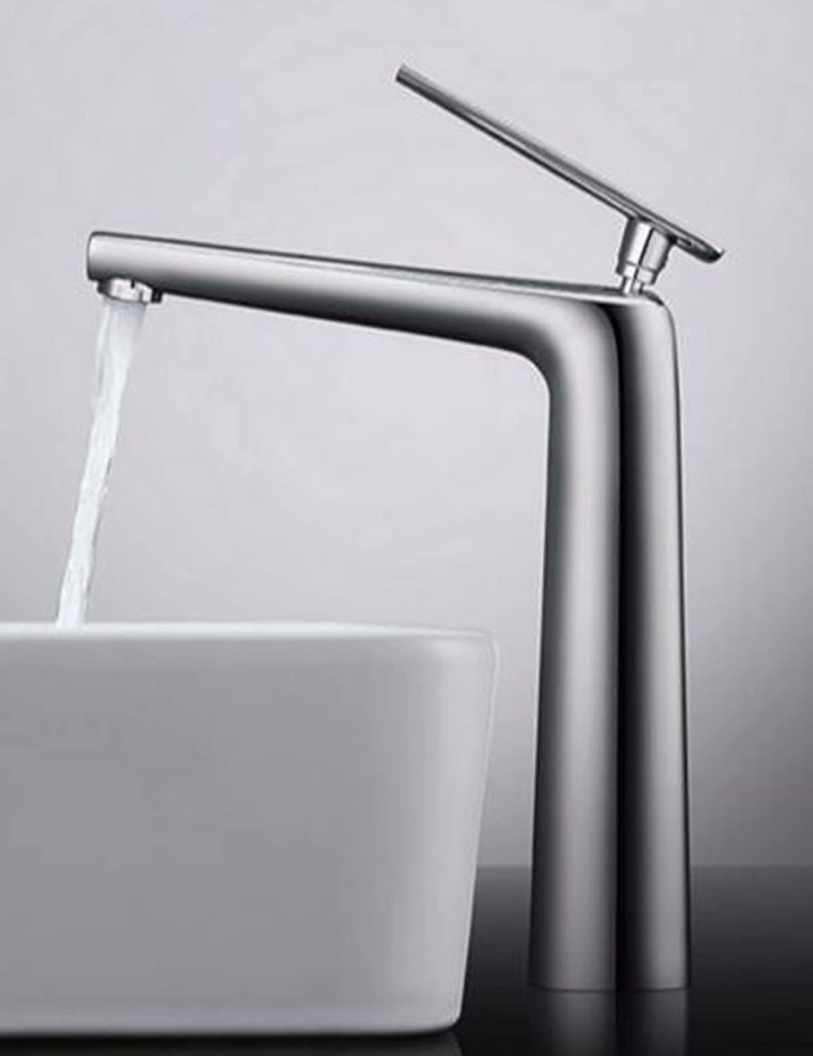 Qmpzg-Hot And Cold Basin Faucet?Cu All Basin Mixer?Bench Basin Single Hole Bath Faucet?B