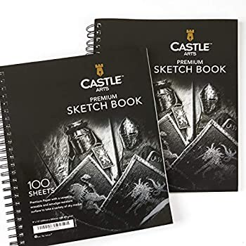 Castle Art Supplies Artists Sketch Books  2 Sketch Pad Pack  9  x 12  200 Sheets of Sketch Paper Ideal for Drawing and School Supplies - Acid Free and Excellent Value