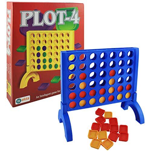 Ekta Plot-4 Board Game Family Game, Multi Color
