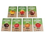 7 Varieties Non-GMO Organic Slicing Heirloom Tomato Seeds - Beefsteak...