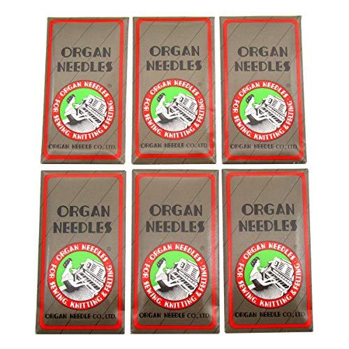 Aguja para órganos en caja de plástico transparente CKPSMS - Agujas de coser Organ-HAX1 Compatible con SINGER, Pfaff, JANOME, RICCAR, NECCHI, BROTHER+ (Organ-HAX1#9#11#12#14#16#18 60PCS)