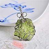 BEISHI Piedra Ornamental Calidad Natural MoldAvita Green Aerolites Piedra de Cristal para la energía Colgante Apotropráico METEORITO METEORITO METEORITO METERAL D3 (Color : 5-10g)