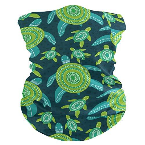 Stoff-Gesichtsmaske für Damen, multifunktional, Bandanas, Schnittmuster, unisex, grüne Schildkröte, Stoffmaske, Muster, bedruckbar, für Herren und Damen, Kopfbedeckung, Gesichtshandtuch, waschbar