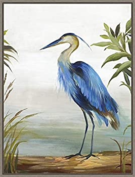 Framed Canvas Wall Art Print | Home Wall Decor Canvas Art | Blue Heron by Aimee Wilson | Modern Decor | Stretched Canvas Prints 18.00 x 23.50 in.
