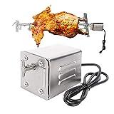 Vogvigo SP-S40 Barbecue en Acier Inoxydable Grill torréfacteur Moteur électrique Poulet de chèvre Poulet BBQ Broche Rôtissoire Accessoires pour Barbecue en Plein air (220V-240V)