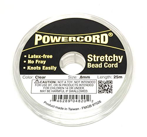 82 Feet Powercord Stretch Elastic Cord .8mm for Jewelry Making