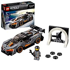 Build the awesome McLaren Senna, featuring a minifigure cockpit, removable windshield, interchangeable wheel rims, and McLaren and Senna logo stickers, and a wind tunnel then play out car development and race scenarios Includes a McLaren racing drive...
