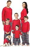 PajamaGram Matching Family Pajamas Flannel - Matching Pajamas, Gray, Men's, XL