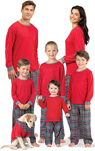 PajamaGram Matching Family Pajamas Flannel - Matching Pajamas, Gray, Men's, XL