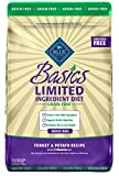 Blue Buffalo Basics Limited Ingredient Diet Grain Free Natural Adult Dry Dog Food, Turkey & Potato 24-lb