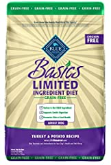 STARTS WITH REAL TURKEY: A recipe that starts with real turkey as the first ingredient, this adult dry dog food features a single animal protein source along with potatoes, peas and pumpkin to support gentle digestion in your dog without the grains t...