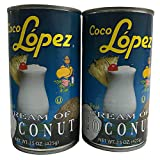 Cream of Coconut Coco Lopez Set of 2 Can