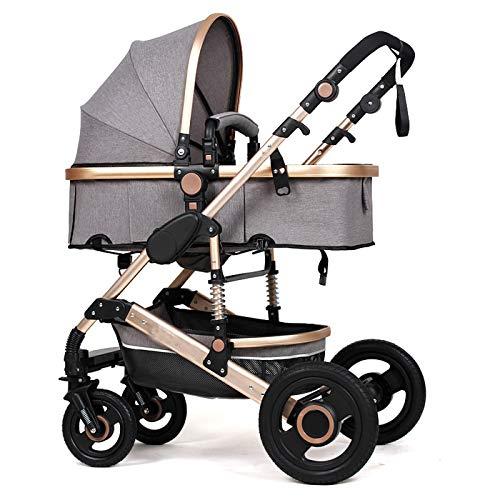 WUZHI El Cochecito De Bebé De Dos Vías Que Conduce El Coche del Paraguas Puede Sentarse Recostado SUV Carro De Absorción De Choque Carro De Bebé,B