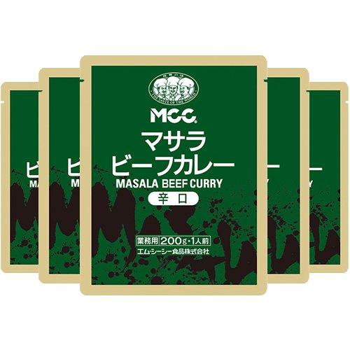 エム・シーシー食品 マサラビーフカレー(辛口) 200g×5個
